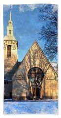 Hand Towel featuring the digital art Terijoki Church by Kai Saarto