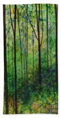 Hand Towel featuring the painting Terra Verde by Hailey E Herrera