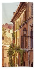 Hand Towel featuring the photograph Terracotta - Rome Italy Travel Photography by Melanie Alexandra Price