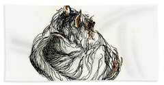 Terrier Sleeping - 1 Bath Towel by Shirley Heyn