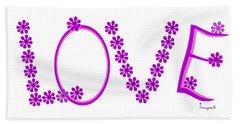 1281 -  Love    Colour Violet Hand Towel