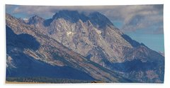 Bath Towel featuring the photograph Teton Country Landscape by James BO Insogna