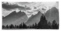 Bath Towel featuring the photograph Teton County In Black And White by James BO Insogna