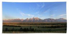 Teton Range After Sunrise Hand Towel
