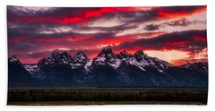 Teton Sunset Bath Towel by Darren White