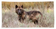 Teton Wolf Hand Towel by Steve Stuller