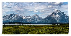 Tetons - Panorama Bath Towel