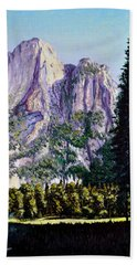 Tetons Bath Towel by Stan Hamilton