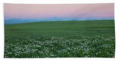 Tetons With Daisies Hand Towel