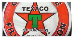 Texaco Sign Bath Towel