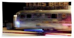 Texas Beer Fast Motorcycle #5594 Hand Towel by Barbara Tristan