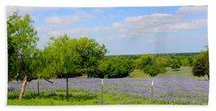 Texas Bluebonnet Field Bath Towel