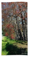 Hand Towel featuring the photograph Texas Fall by Lori Mellen-Pagliaro