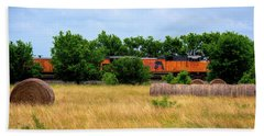 Texas Freight Train Hand Towel by Kelly Wade