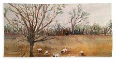 Texas Sheep Hand Towel by Christine Lathrop
