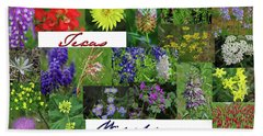 Texas Wildflower Collage Hand Towel