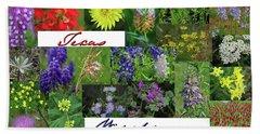 Texas Wildflower Collage Hand Towel