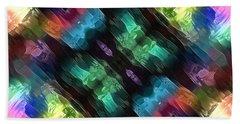 Textural Abstract Of Colors Bath Towel