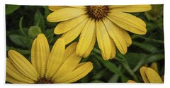 Bath Towel featuring the photograph Textured Floral by James Woody