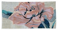Bath Towel featuring the mixed media Textured Floral No.2 by Writermore Arts