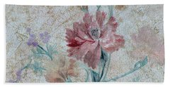 Bath Towel featuring the mixed media Textured Florals No.1 by Writermore Arts