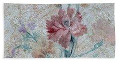 Textured Florals No.1 Bath Towel