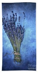 Textured Lavender  Hand Towel by Stephanie Frey