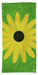 Textured Yellow Daisy Hand Towel