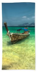 Thai Longboat  Bath Towel