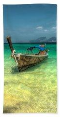 Thai Longboat  Bath Towel by Adrian Evans