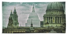 Thamesscape 2 -  Ghosts Of London Bath Towel