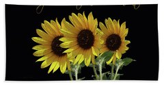 Thank You For Your Sunflowers, Vincent Bath Towel by Robert J Sadler