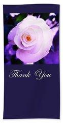 Thank You  Bath Towel by Mary Ellen Frazee
