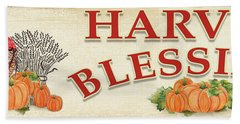 Hand Towel featuring the painting Thanksgiving-f by Jean Plout