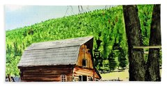 That Barn From That Movie Hand Towel by Tom Riggs