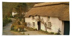 Thatched Cottage By Ford  Bath Towel
