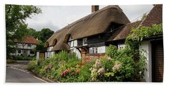 Thatched Cottages In Micheldever Hand Towel