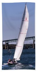 Hand Towel featuring the photograph The 12 Newport Rhode Island by Tom Prendergast