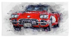 The 1959 Chevrolet Corvette Bath Towel