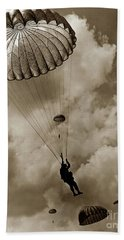 The 82nd Airborne  Hits The Silk Fort Ord 1953 Bath Towel