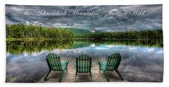 The Adirondack Mountains - Forever Wild Bath Towel