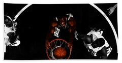 Bath Towel featuring the mixed media The Admiral David Robinson by Brian Reaves