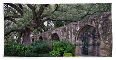 The Alamo Oak Hand Towel by David and Carol Kelly