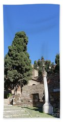 The Alcazaba Of Malaga In Andalucia Spain Hand Towel