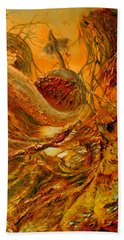 Hand Towel featuring the painting The Alchemist by Henryk Gorecki