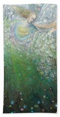 The Angel Of Growth Hand Towel by Annael Anelia Pavlova