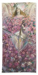 The Angel Of Love Hand Towel by Annael Anelia Pavlova