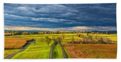 The Antietam Battlefield Bath Towel by John M Bailey