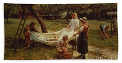 The Apple Gatherers Bath Towel