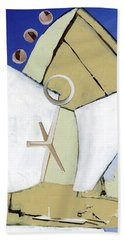 Bath Towel featuring the painting The Arc by Michal Mitak Mahgerefteh